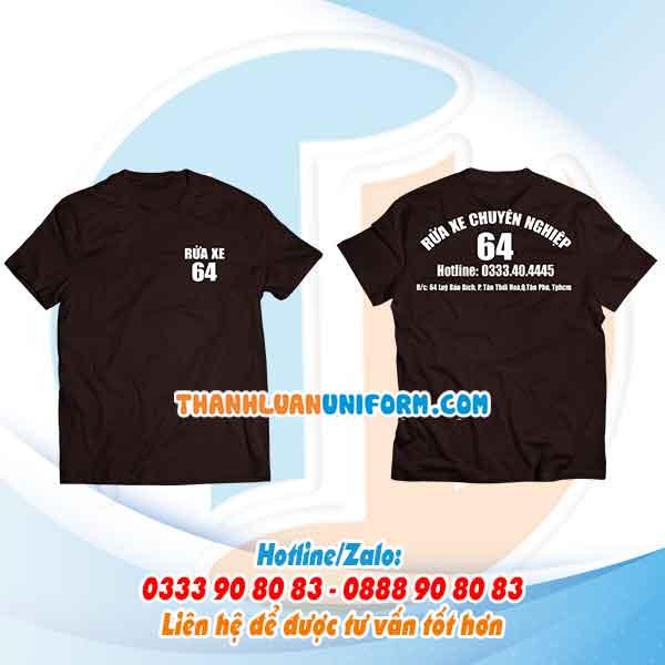 Áo Phông Rửa Xe 64 Giá Rẻ   Xưởng May Đồng Phục Chất Lượng Tphcm