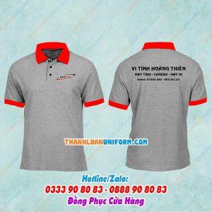 Áo Thun in Logo Vi Tính Hoàng Thiên | May Đồng Phục Công Nhân Tphcm