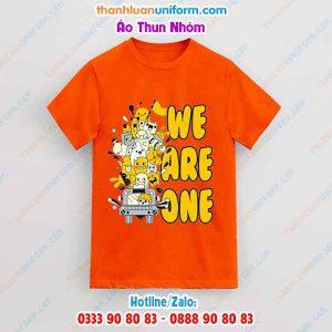 Áo Thun Nhóm Màu Cam We Are One   in Đồng Phục Uy Tín Gò Vấp Hcm