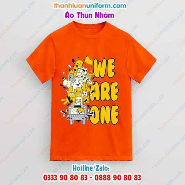 Áo Thun Nhóm Màu Cam We Are One | in Đồng Phục Uy Tín Gò Vấp Hcm